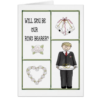 Ring Bearer Invitation Card