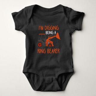 Ring Bearer Kid Tractor lover Wedding Son Farmer Baby Bodysuit