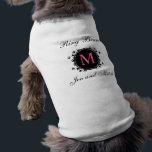 "Ring Bearer Monogram Wedding Dog Shirt<br><div class=""desc"">Elegant Ring Bearer Initial Wedding Dog Shirt. Customize with you monogram and bride and groom names.</div>"