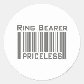 Ring Bearer Priceless Round Stickers