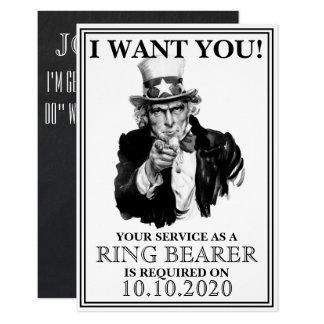 Ring Bearer Proposal Invitation