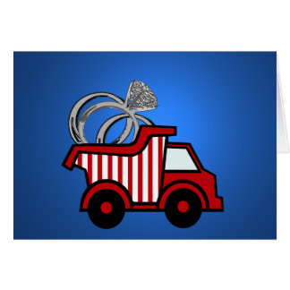 Ring Bearer Red Dump Truck Stationery Note Card