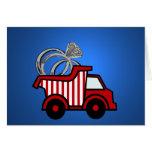 Ring Bearer Red Dump Truck Cards