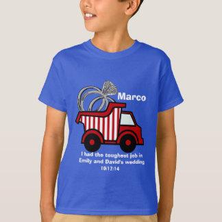 Ring Bearer Red Dump Truck T-Shirt