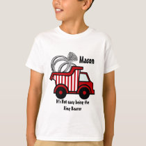 Ring Bearer Red Dump Truck T-Shirt
