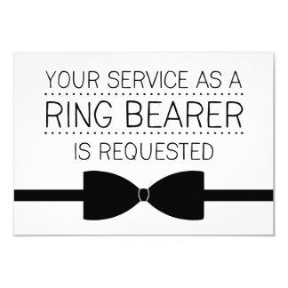 Ring Bearer Request | Groomsmen 3.5x5 Paper Invitation Card