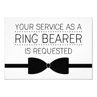 Ring Bearer Request | Groomsmen Card