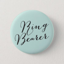 Ring Bearer Script Wedding Bridal Party Button
