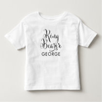 Ring Bearer Shirt | Black Script