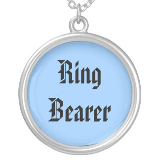 Ring Bearer Silver Plated Necklace