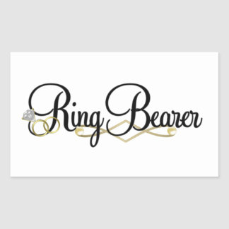 Ring Bearer Rectangular Sticker