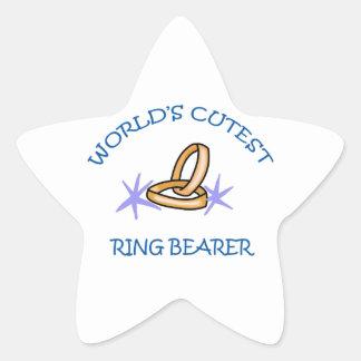 RING BEARER STAR STICKER