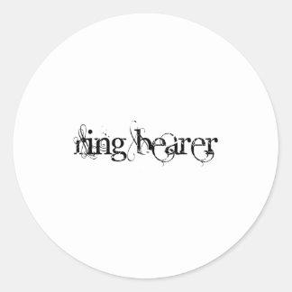Ring Bearer Round Sticker