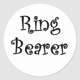 Ring Bearer Stickers