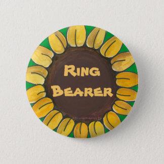 Ring Bearer Sunflower Button