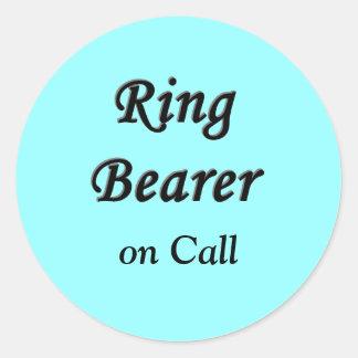 Ring Bearer T Shirts Classic Round Sticker