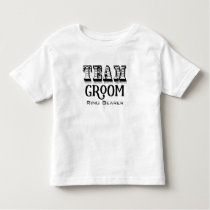 Ring Bearer Team Groom Hand Lettered Black Ink Toddler T-shirt