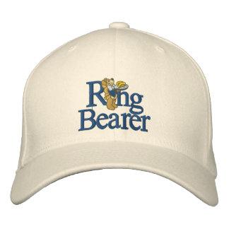 Ring Bearer Teddy Bear Embroidered Baseball Cap