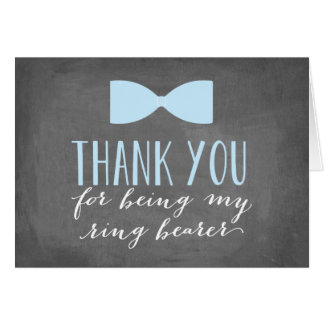 Ring Bearer Thank You | Groomsman Card