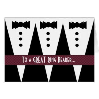 RING BEARER Thank You - Three Tuxedos Card