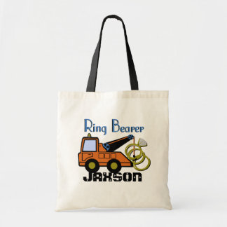 Ring Bearer Tow Truck Tote Bags