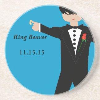 Ring Bearer Tuxedo Coasters coaster