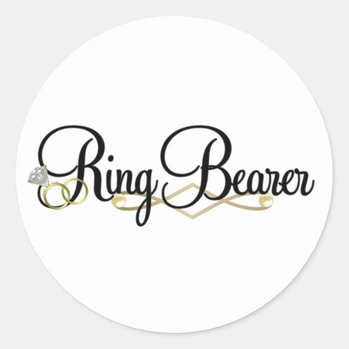 Ring Bearer - Wedding Classic Round Sticker