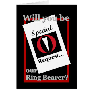RING BEARER Wedding Invitation - Special Request