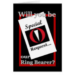 RING BEARER Wedding Invitation - Special Request Greeting Card