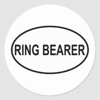 Ring Bearer Wedding Oval Classic Round Sticker