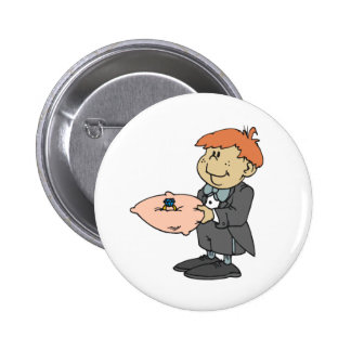 Ring Bearer Wedding Party Pins Buttons