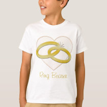 Ring Bearer Wedding Rings in Heart T-Shirt
