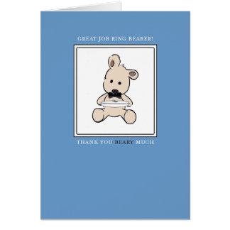 Ring Bearer Wedding Thank You Card - Beary Much