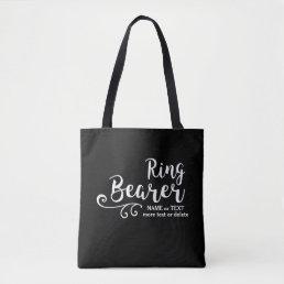 Ring Bearer Wedding Tote Bag | Cool Modern Script
