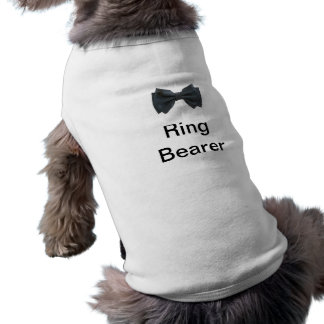 Ring Bearer with bow Doggie T-shirt