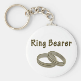 Ring Bearer With Golden Rings Keychain