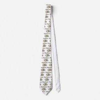 Ring Bearer With Golden Rings Neck Tie