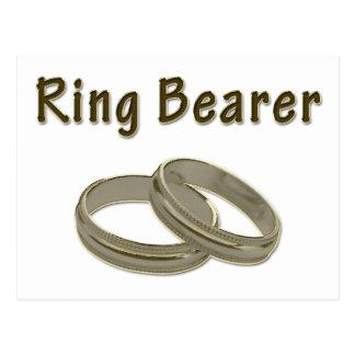 Ring Bearer With Golden Rings Postcard