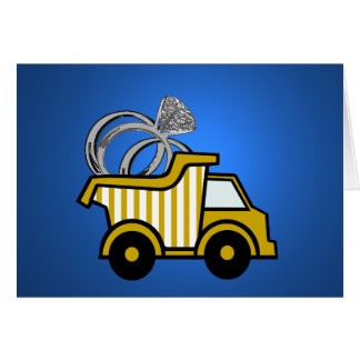 Ring Bearer Yellow Dump Truck Card