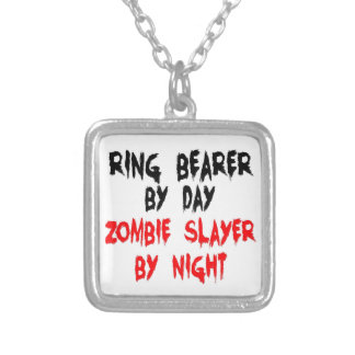 Ring Bearer Zombie Slayer Silver Plated Necklace