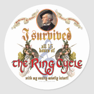 Ring Cycle Survivor Classic Round Sticker