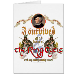 Ring Cycle Survivor Greeting Card