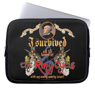 Ring Cycle Survivor Laptop Sleeves