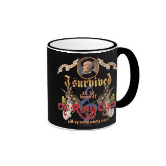 Ring Cycle Survivor Ringer Coffee Mug