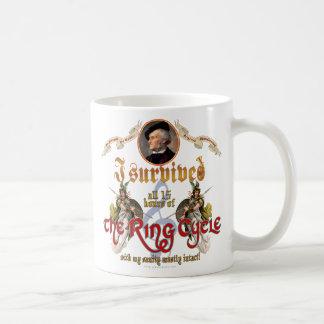 Ring Cycle Survivor Classic White Coffee Mug