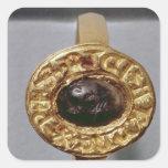 Ring de rey Richard Pegatinas Cuadradas Personalizadas