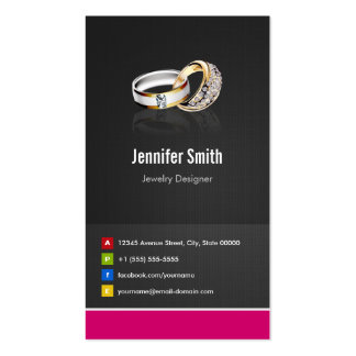 Ring Design Jeweler Jeweller Jewelry Jewellery Business Card Template