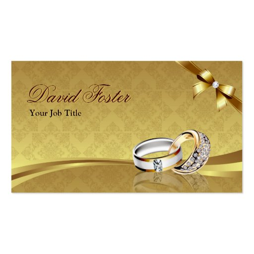 Gold jewellery visiting card
