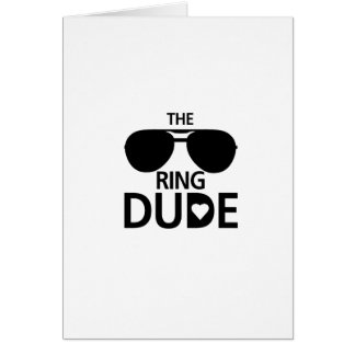 Ring Dude kids - Boys ring bearer wedding Card