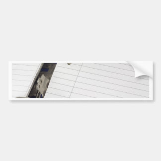 Ring file with blank writing paper bumper sticker